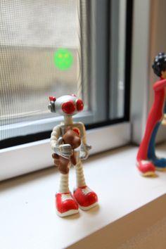 窓際ロボット。