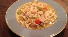 Slow Cooker LAZY Day Chicken Noodle Soup - Delicious, Healthy!  www.GetCrocked.com