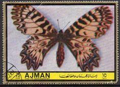 Stamp: Thais polyxena (Ajman) (Butterflies (IV)) Mi:AJ 1970A