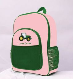 ee3d64e1cd John Deere Pink Kids Tractor Backpack – GreenToys4u.com Tractors For Kids