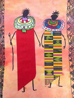 Week BREAK African Art of all sorts, not just masks African Art For Kids, African Art Projects, African Crafts, African American Art, Kunst Online, Online Art, Afrique Art, Creation Art, 4th Grade Art
