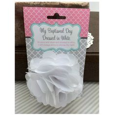 Baptismal Hair Flower - White Shabby Chiffon and Lace ** Want additional info? Click on the image.