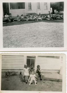 Dr. Bill Tells Ancestor Stories: Wordless (nearly) Wednesday - East side of Smith Farm House - Fall 1944 #genealogy #familyhisto