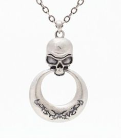 Skull with Ring Necklace [J031] - $8.99 : Mystic Crypt, the most unique, hard to find items at ghoulishly great prices!