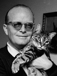 Truman Capote and his cat