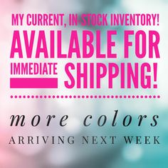 Check out my LipSense Colors in-stock and ready to ship today!!! www.GetLippyWithStephanie.com  ID#206089 Serving Central Florida and the rest of the USA!