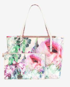 Pure peony shopper bag