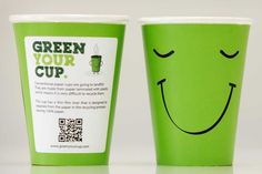 Attention, eco-minded coffee connoisseurs. This coffee cup really will get recycled!