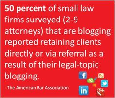 It's 2012 (almost 2103!). Do you know where your social media marketing leads are? Are you among the one out of two small law firm attorneys who reported retaining clients directly or via referral from their legal topic blogging?* That's not just leads