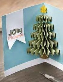 Tree card. This looks like something Aunt Sher would make!