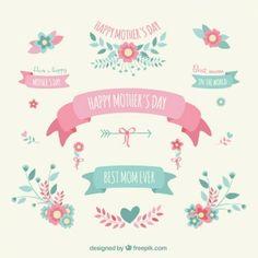 Dia das mães decoração elementos