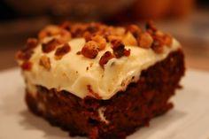 Pumpkin Gingerbread w Cream Cheese Frosting