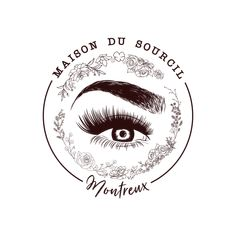 Logo for Maison Du Sourcil in Montreux, Switzerland. Maison Du Sourcil is a new salon opening which specialises in Microblading, eyelash extensions and eyebrow treatments. Designed by Design by Cheyney Permanent Makeup Eyebrows, Eyebrow Makeup, Eyeliner Techniques, Makeup Business Cards, Eyebrow Design, Eyelash Logo, Lashes Logo, Makeup Eye Looks, Makeup Store