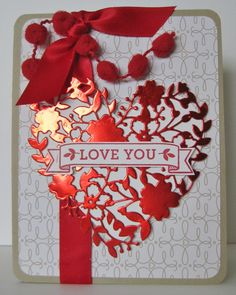 barb mann stampin up demonstrator su love you valentine card bloomin