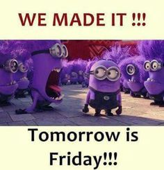 Despicable Me 2 ~ purple minions, they are awesome! Minion Rock, Purple Minions, Evil Minions, Cute Minions, Tomorrow Is Friday, Dog Jokes, Funny Jokes, Minions Despicable Me, Minion Humor