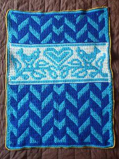 reversible interlocking crochet baby blanket with by kakubadesign, £180.00