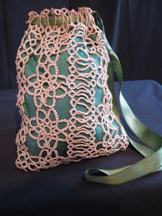 Vintage Victorian purse tatted lace hand by vintageboxofdelights, $40.00