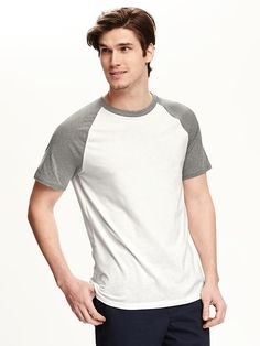 Raglan-Sleeve Baseball Tee for Men Mens Jersey Shirts, Raglan Shirts, Men's Shirts, Baseball Tee Shirts, Old Navy, Mens Fashion, Sleeves, Mens Tops, T Shirt