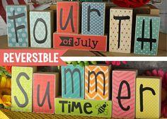 Reversible Blocks {Fourth/Summer}