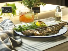 Grilled Whole Trout recipe from Food Network Specials via Food Network