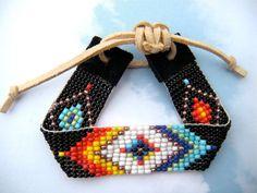 Galaxy Patterned Bead Loom Bracelet