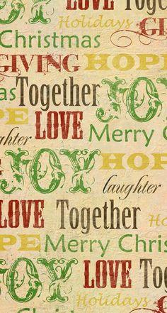 Tap image for more Christmas Wallpapers! Christmas.Hope.Love.Giving - mobile9