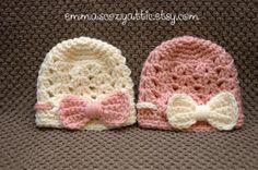 Baby girl hat baby girl hats newborn girl hats by emmascozyattic, $24.00