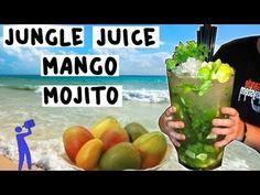 How to make a JUNGLE JUICE MANGO MOJITO! - Tipsy Bartender - YouTube