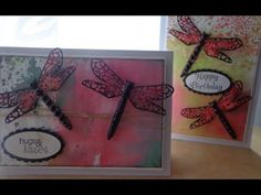 Dragonfly card tutorial & chat