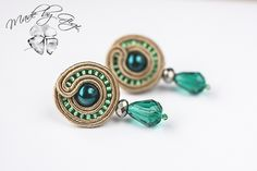 The World's most recently posted photos of soutache and sutasz Soutache Tutorial, Earring Tutorial, Handmade Beaded Jewelry, Earrings Handmade, Diy Accessoires, Soutache Necklace, Passementerie, Polymer Clay Charms, Diy Earrings