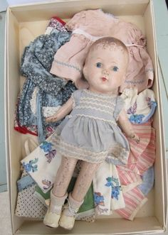 VINTAGE 1930's COMPOSITION DOLL 12IN. WARDROBE - CLOTHES - PATSY | Dolls & Bears, Dolls, By Material | eBay!