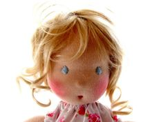 Love this Waldorf Doll...her hair is YARN!