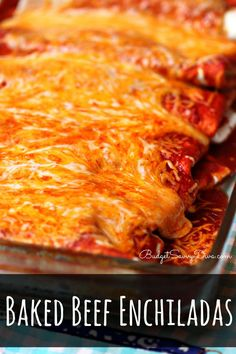 The BEST Enchiladas you will EVER have - done in under 45 minutes - cost under $10 and feeds 6 Baked Beef Enchiladas Recipe #enchiladas #recipe #budgetsavvydiva via budgetsavvydiva.com Mexican Dishes, Mexican Food Recipes, Ethnic Recipes, Mexican Cheese, Spanish Recipes, Mexican Meals, Burritos, Tacos, Enchilada Recipes