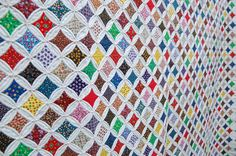 cathedral window quilt - would NEVER have the patience but absolutely amazing.