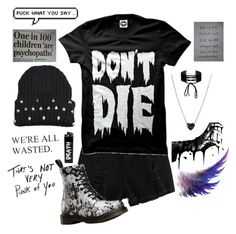 """Unacceptable"" by realbandssavefans96 ❤ liked on Polyvore featuring Sober Is Sexy, ZoÃ« Chicco, Dr. Martens and Miss Selfridge"