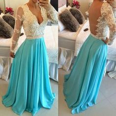 New Arrival Sexy Prom Dress Long Sleeves Long Sleeves Sheer Back Evening Dress…