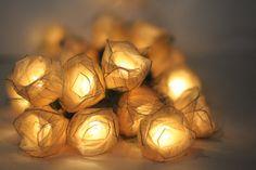 Rose String Lights _Romantic Wedding Idea