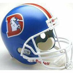 Denver Broncos 1975-1996 Deluxe Replica Riddell Throwback Full Size Helmet by Riddell. $83.99. Denver Broncos - Riddell NFL Helmets - Denver Broncos 1975-1996 Deluxe Replica Throwback Full Size Helmet - Item: RIDDEN19751996FSTRH. Save 31% Off!
