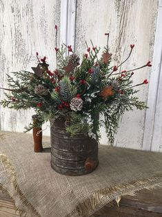 100+ Cheap and Easy Christmas Centerpiece Ideas that you can Make in a Jiff - Hike n Dip Farmhouse Christmas Decor, Outdoor Christmas, Simple Christmas, Christmas Holidays, Cheap Christmas, Christmas Carol, Primitive Christmas, Primitive Snowmen, Primitive Crafts