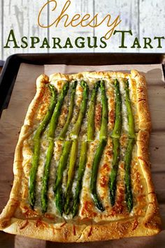 Cheesy Asparagus Tart Recipe | Vegetables | Simple and elegant this makes the perfect appetizer for any get together!