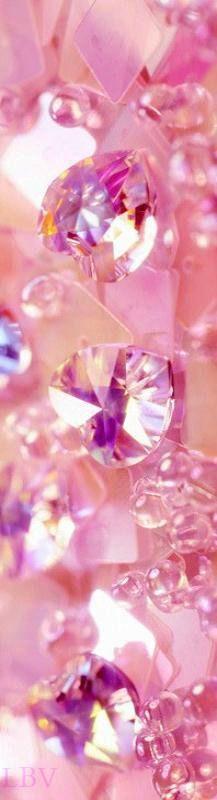 Pink swarovski hearts