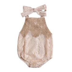 iiniim Baby Girls Ruffle Flutter Sleeve Romper Bodysuit One Piece Solid Color Cotton Summer Outfit Jumpsuit