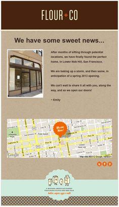 Flour + Co. Email Marketing, Stationary, Design Inspiration, Sugar, Graphic Design, Chocolate, Check, Chocolates, Brown