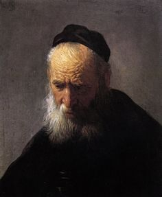 Head of an Old Man in a Cap, Rembrandt or his circle, ca. 1629.