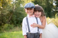 Could this flower girl and ring bearer be any cuter?! Photos by Jessica Hill Photography | junebugweddings.com