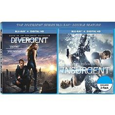 DIVERGENT / INSURGENT 2-Pack Blu-ray+Digital HD Movie Double Feature (Both Divergent Series Blu-ray+Digital HD Movies Together) Shailene Woodley, Kate Winslet, Theo James - http://bluraydvdmovie.com/divergent-insurgent-2-pack-blu-raydigital-hd-movie-double-feature-both-divergent-series-blu-raydigital-hd-movies-together-shailene-woodley-kate-winslet-theo-james/