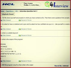 Hcl Networking Interview Questions With Answers Asked At 1 Years Of Experience Get The List Covering Each Round In Detail For Data