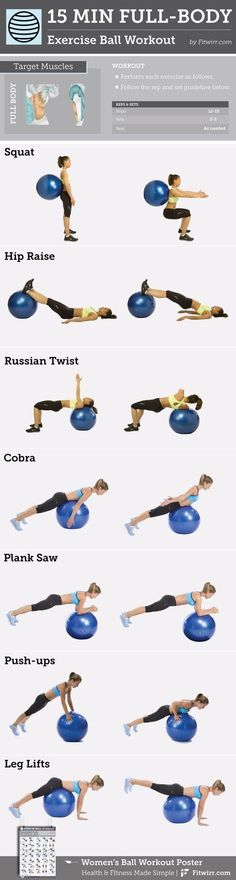 15-Minute Full-Body Exercise Ball #Workout content @ https://www.pinterest.com/dcindcmedia/ #cardiomenfullbody
