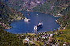 Cruceros en un fiordo