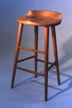 "31"" high cherry tractor seat stool"